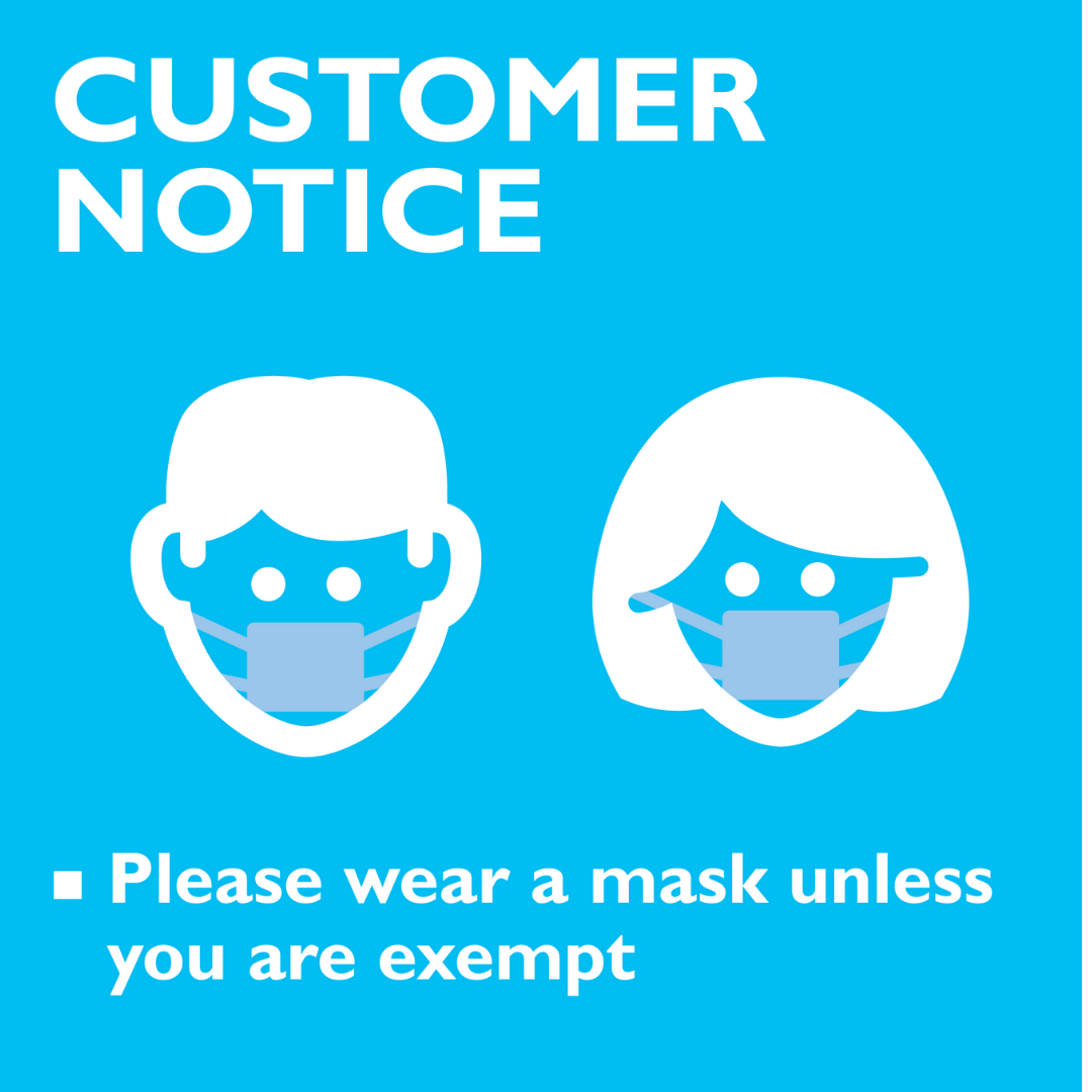 Customer Notice Posters