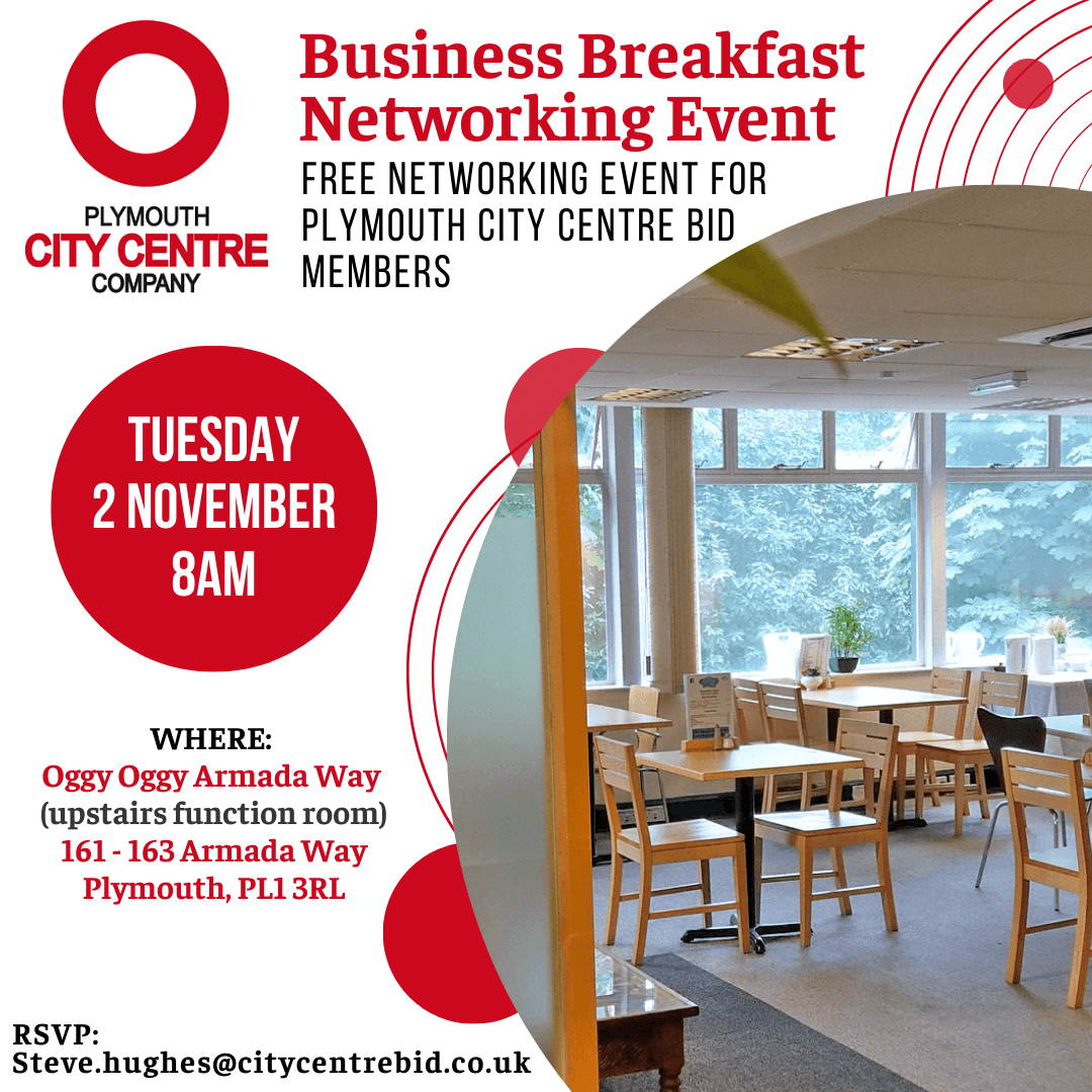 Plymouth City Centre Company Business Breakfast Networking Event